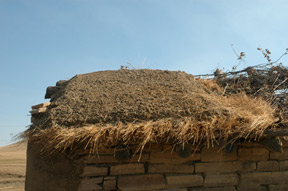 Fig. 2, earthen roof at Hutmacher Farm